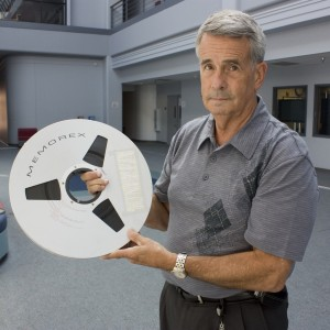 Richard (Dick) Nafzger with Apollo data tape by Goddard Photo and Video (cc) (from flickr)