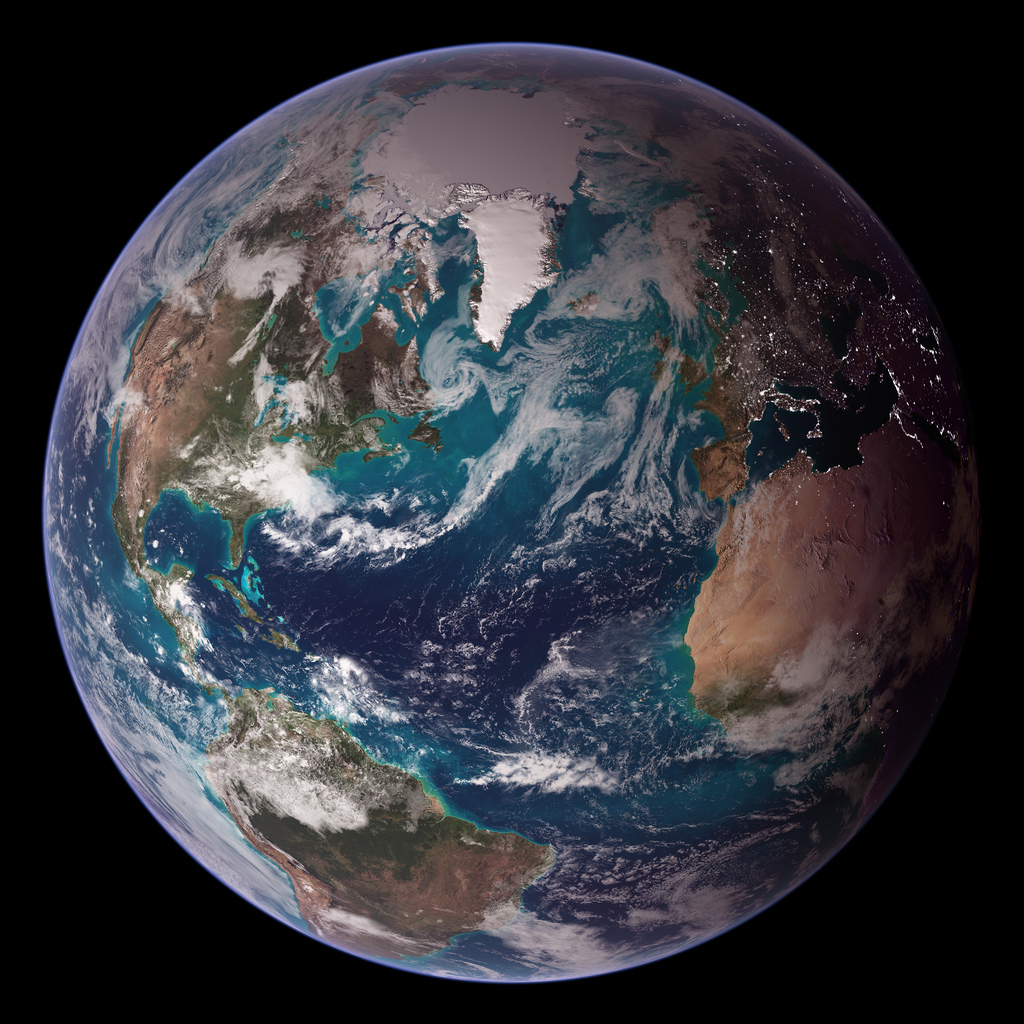 NASA Blue Marble 2007 West by NASA Goddard Photo (cc) (from flickr)