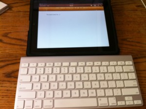 iPad with BlueTooth Keyboard