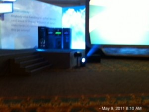 EMC World keynote stage, storage, vblocks, and cloud...